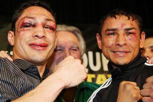 Vázquez y Márquez después de uno de sus peleas