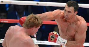 Povekin aguantó los 12 asaltos con Wladimir Klitschko
