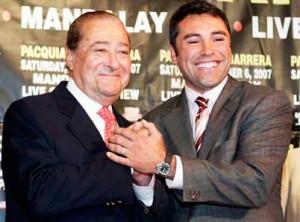 Bob Arum y Óscar De la Hoya