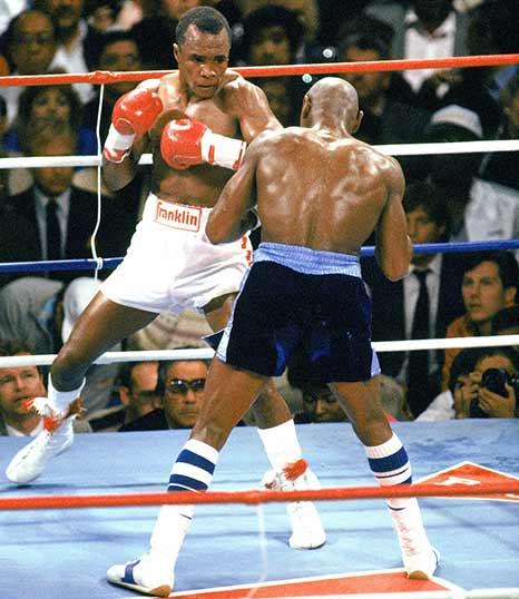 Sugar Ray Leonard vs Marvin Heagler
