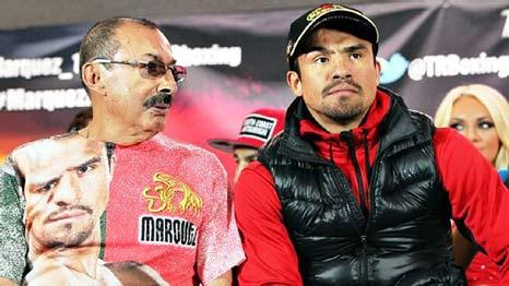 Nacho Beristáin junto a Juan Manuel Márquez