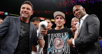 De la Hoya, Leo Santa Cruz y Bernard Hopkins