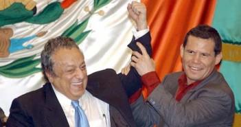 José Sulaimán y Julio César Chávez