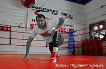 Foto Reynaldo Sánchez - Sergey Kovalev entrenando
