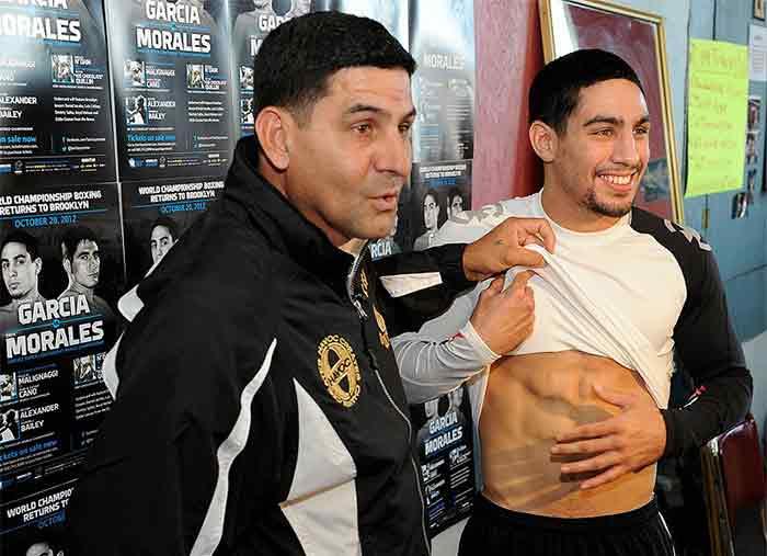 Danny García junto a su padre Ángel García