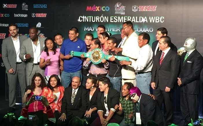Presentación del cinturón Esmeralda WBC