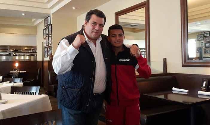 """Mauricio Sulaimán y """"Chocolatito"""" González"""