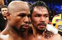 Mayweather y Pacquiao tras la pelea