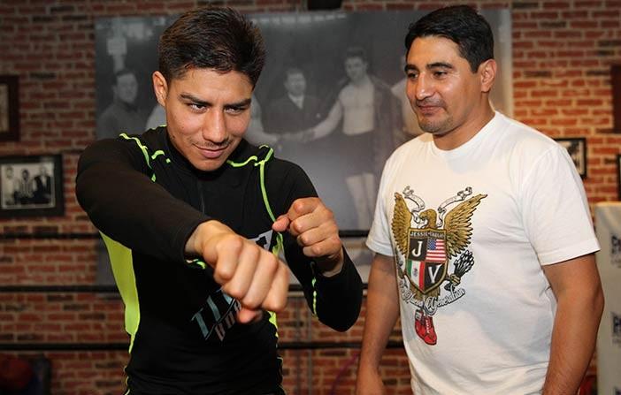 Jessie Vargas y Erik Morales
