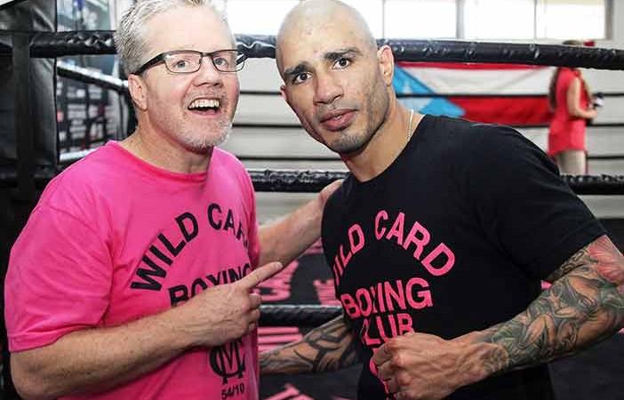 Freddie Roach y Miguel Cotto