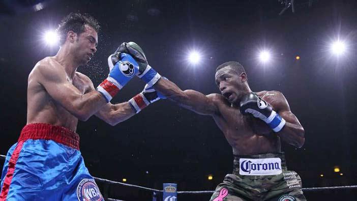 Lara vs Rodríguez. (Lucas Noonan / Premier Campeones de Boxeo)