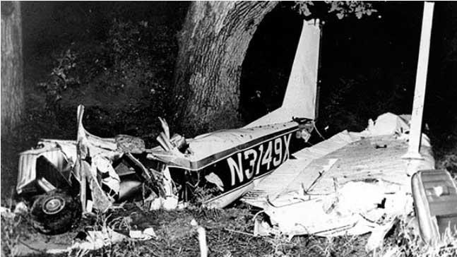 Accidente en el que perdió la vida Rocky Marciano