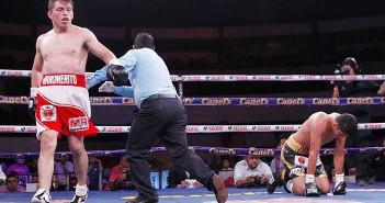 """Maromerito"" Páez vs Daniel 'Tocado' Echeverría - Foto: Zanfer Boxing"