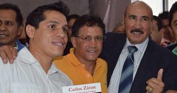 Sosa, Zepeda y Zarate (Foto de Carolina Rodríguez)