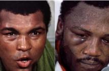Muhammad Alí y  Joe Frazier tras la pelea