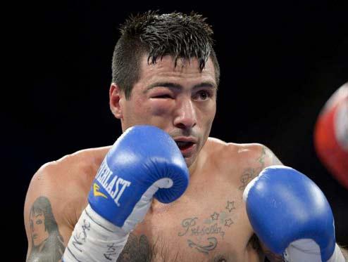 Lucas Matthysse en su pelea con García