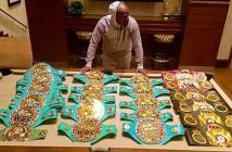 Los 23 cinturones que ganó Mayweather