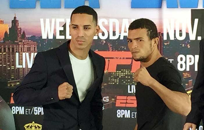 Emmanuel Rodríguez y Eliecer Aquino - Foto: Fresh Boxing