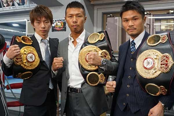 Taguchi – Uchiyama y Kono - Photo Asian Boxing