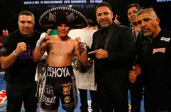Diego De la Hoya junto a su primo Óscar De la Hoya