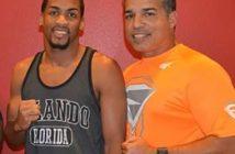 Midyael 'el Diamante Negro' Sánchez y su entrenador Ricky Márquez.(Foto: Alex Nunez)