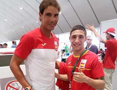 Rafa Nadal y Samuel Carmona