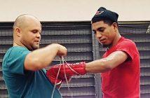 """Alfredo """"Ojo"""" Santiago y su entrenador Anthony Otero - Foto Esdel Palermo / Fresh Productions"""