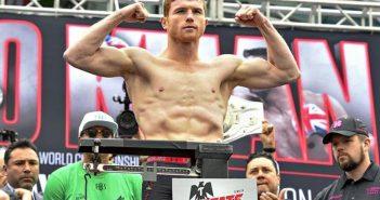 """Saúl """"Canelo"""" Álvarez en el pesaje de su pelea con Smith"""