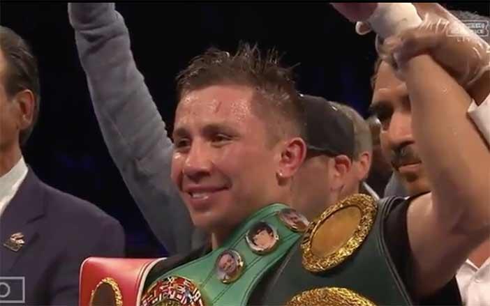 Gennady Golovkin tras la victoria frente a Brook