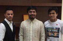 McJoe Arroyo, Manny Pacquiao y Jerwin Ancajas