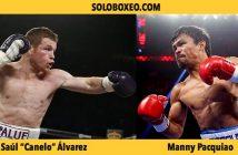 "Saúl ""Canelo"" Álvarez y Manny Paquiao"