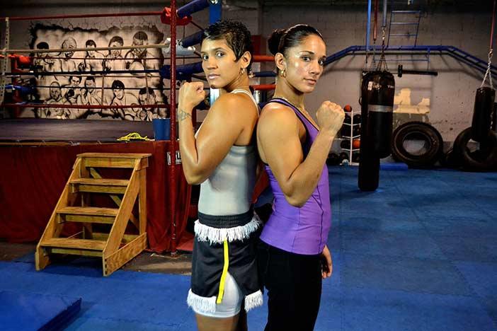 Cindy y Amanda Serrano