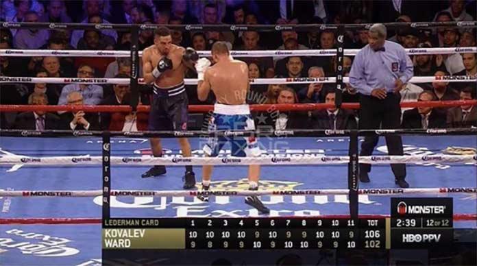 HBO puntuaciones Kovalev vs Ward