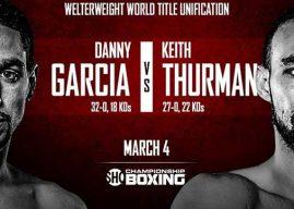 A pocos días del Keith Thurman vs Danny García