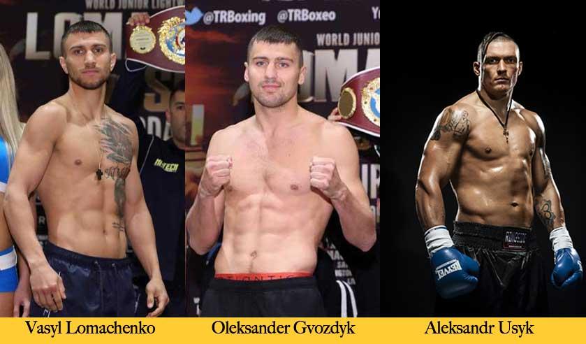 Lomachenko, Gvozdyk y Usyk