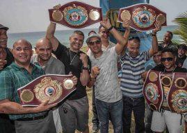La OMB le entregó cinturones al ex campeón mundial, Josue 'Dickie Camacho y al ex campeón NABO, Daniel 'Pipino' Alicea