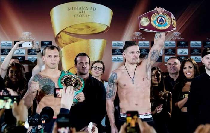 Mairis Briedis y Aleksandr Usyk (Credit WBSS)