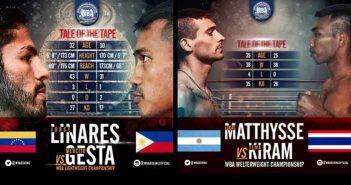 Linares vs Gesta -Matthysse vs Kiram