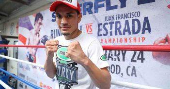 """Juan Francisco """"Gallo"""" Estrada (Credito/Tom Hogan, 360 Boxing Promotions)"""
