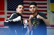 Andy Vences y Alex Saucedo (Credito de Fotos: Mikey Williams / Top Rank)