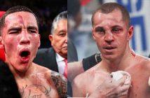 Óscar Valdez y Scott Quitt tras la pelea.