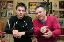 Tim Tszyu junto a su padre Kostya Tszyu