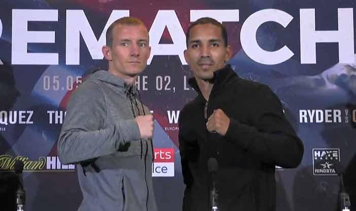 Emmanuel Rodríguez y Paul Butler(Matchroom Boxing)