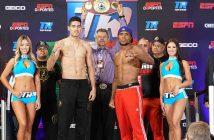 """Zurdo"" Ramírez y Roamer Angulo ( Crédito Fotos: Manny Álvarez, Zápari Boxing Promotions)"