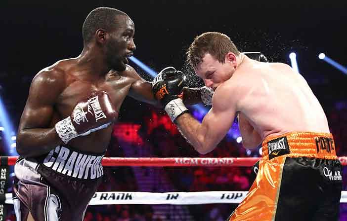 Crawford vs Horn ((Credito de Fotos: Mikey Williams / Top Rank)