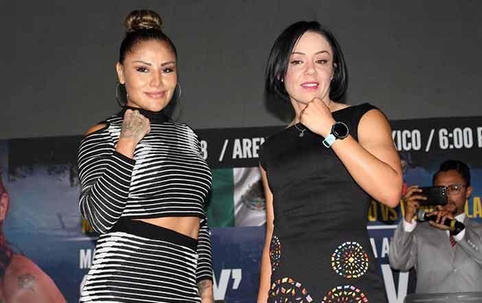 """Mariana """"La Barby"""" Juarez y Jackie """"La Princesa Azteca"""" Nava"""