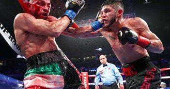 Alex Saucedo vs Zappavigna (Fotos: Mikey Williams, Top Rank)