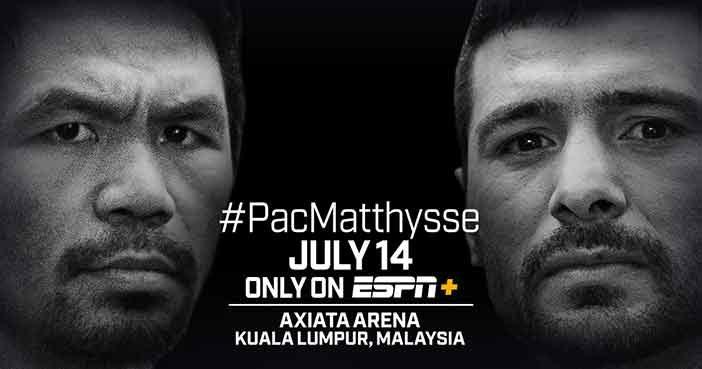 Pacquiao vs Matthysse en ESPN
