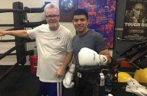 Joselito Velázquez y Freddie Roach (Foto: Espinoza Boxing Club)