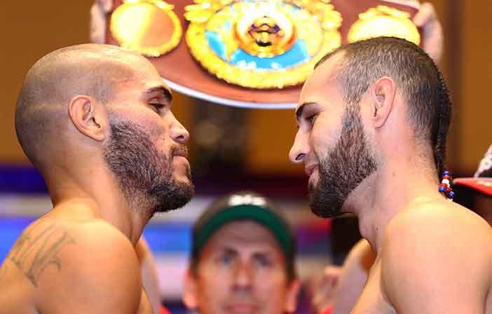 Pesaje Beltrán vs Pedraza (Fotos: Mikey Williams / Top Rank)